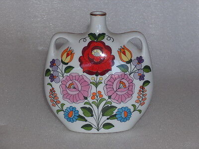 Vintage Kalocsa Hand-Painted Porcelain Vase Or Pitcher-Numbered Edition, Hungary