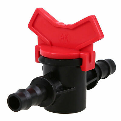 Connector Water Hose Pipe Tap Drip Irrigation Garden Barb Ball Valve Kit Plastic