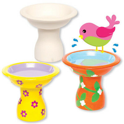 2 Ceramic Bird Drinkers for Children to Paint Decorate - Creative Kids Craft Set