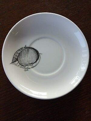 Vintage Susie Cooper Black Fruit Saucer Apple