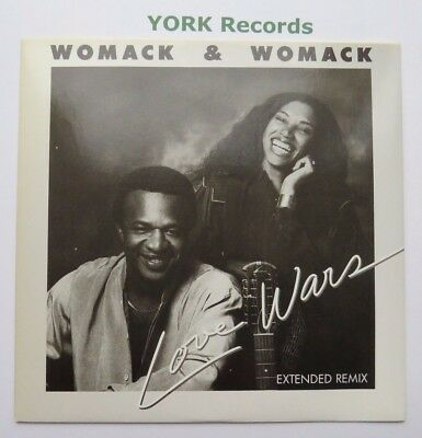 """WOMACK & WOMACK - Love Wars - Excellent Condition 12"""" Single Elektra E 9799T"""