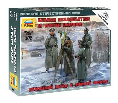 Zvezda 6232 - 1/72 Wargame Addon Figuren Set German Headquarters Winter Uniform