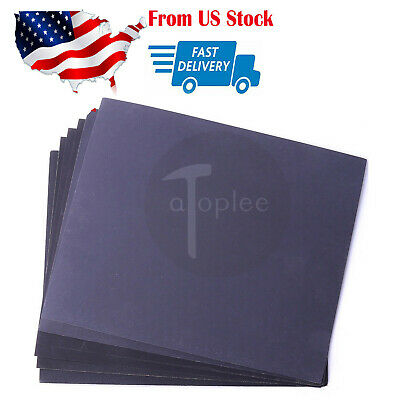 US Sandpaper Wet or Dry 10 sheets 9'' x 11'' COMBO 280/400/1000/1500/2000 Grit