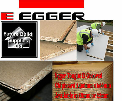 Chipboard Flooring P5 T&G 2400mm x 600mm Choose 18mm or 22mm MOISTURE RESISTANT