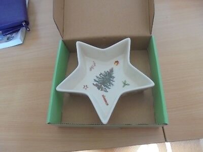 "BNWT  Spode Christmas Tree  star dish 8.25"" never used L@@K"