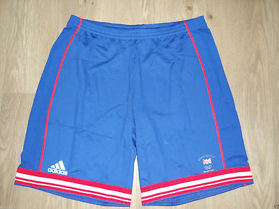 Team GB Great Britain Beijing 2008 Olympics Men's Shorts Adidas Blue L Large New