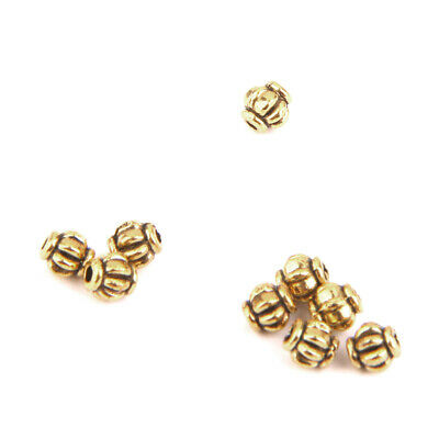 100pcs Wholesale Antique Silver/Gold Pumpkin Spacer Loose Beads 4mm Findings