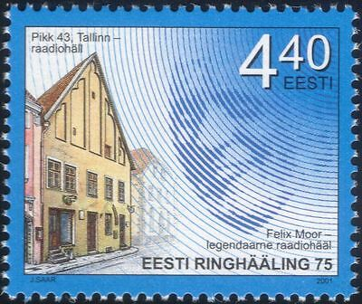 Estonia 2001 Radio/Broadcasting/Communications/Telecommunications 1v (ee1132)