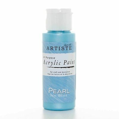 DoCrafts Artiste Ice Blue Pearl Acrylic Craft Paint - 59ml