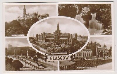 Lanarkshire postcard - Glasgow (Multiview showing 5 views) - RP