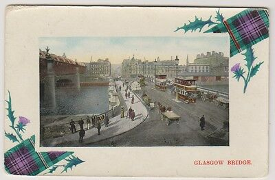 Lanarkshire postcard - Glasgow Bridge - RP