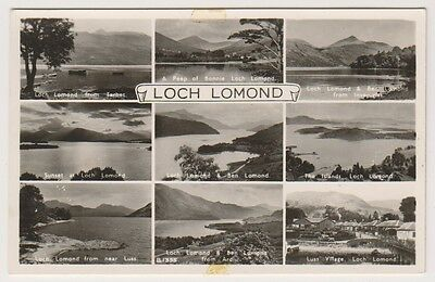 Dunbartonshire postcard - Loch Lomond (Multiview showing 9 views) - RP
