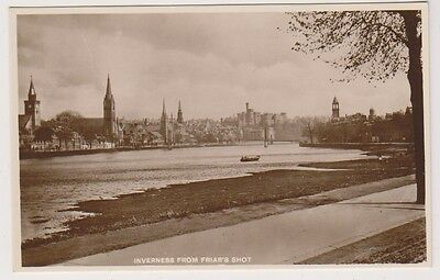Inverness-shire postcard - Inverness from Friar's Shot - RP