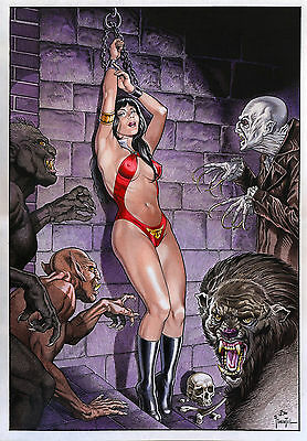 Vampirella 2 By Joe Pimentel-Print Art, Copying, Reproduction