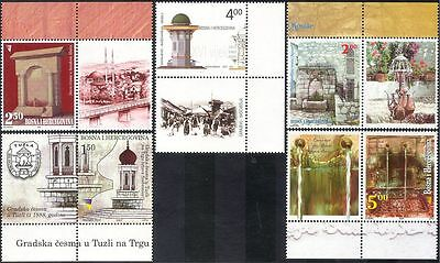 Bosnia Herzegovina 2007 Fountains/Buildings/Architecture/Water 5v set (n44300)