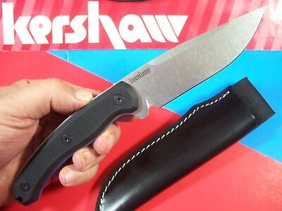 "Kershaw ""USA"" - DISCONTINUED Diskin Hunter G-10 FIXED BLADE skinning knife 1085"