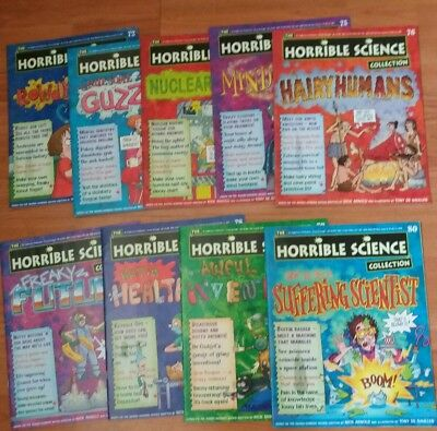 horrible science magazines 72- 80