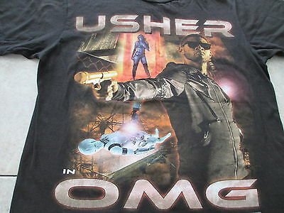 Usher OMG Tour Oh My Gosh I Want It All Black T Shirt Size M Medium L Large