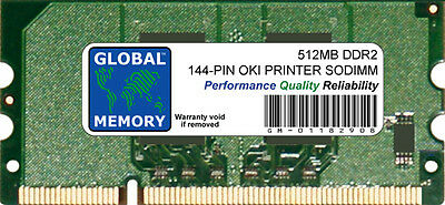 512Mb Oki Mc361/mc561& C330/530/610/711/831/841 Printer Ram (70061901, 01182908)