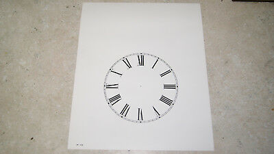 Paper Steeple Clock Dial 5 Inch New  Wall Clock Parts
