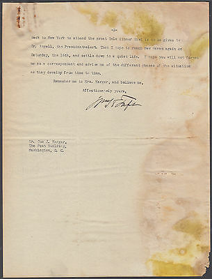 William H. Taft 1921 Typed Letter Signed - Lengthy 2-Page Letter - Good Content