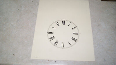 "Paper Steeple Clock Dial 5"" New  Wall Clock Parts"