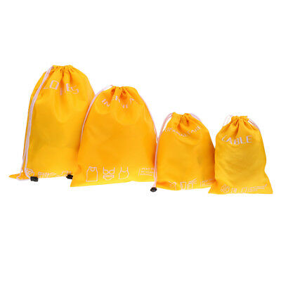 4 pcs Storage Bag Drawstring Storage Bag Lightweight Space-saving
