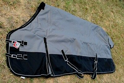 HORSE TURNOUT WINTER BLANKET ,1200D SILVER Color , size 72""