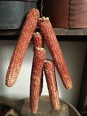 Dried Hand Strung Corncob Garland Hanging Pantry Fall Harvest Buttery AAFA #2