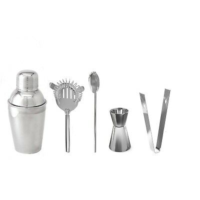 Stainless Steel Bar Bartender Martini Cocktail Shaker Mixer Drink Tools Set Kit