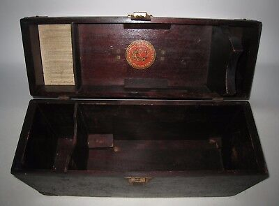 Antique Willcox & Gibbs Sewing Machine Wood Case Box HP70