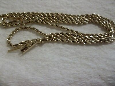14 karat  yellow gold rope chain (SOLID) 5.6 Grams good Deal!!