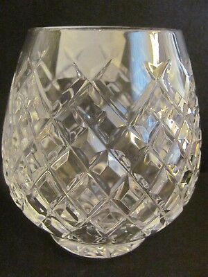 Lenox Heavy Cut Diamond Pattern Crystal Votive Tealite Candle Holder 1984 4""