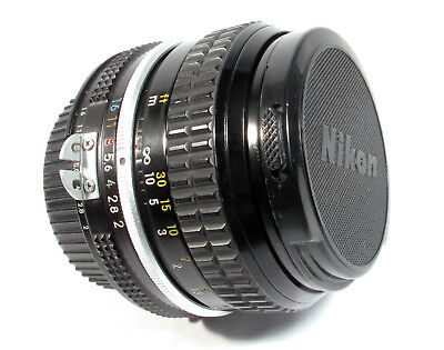 Nikkor 50mm f2 Standard Lens  Nikon AI fit -Very Clean -Can Be Used on DSLR