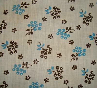 BEAUTIFUL UNUSED ANTIQUE FRENCH PROVENCAL COTTON c1910, FLOWERS, PROJECTS REF