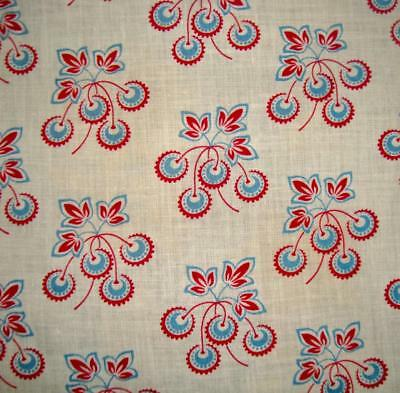 BEAUTIFUL UNUSED ANTIQUE FRENCH PROVENCAL COTTON c1910, CHESTNUTS, PROJECTS REF