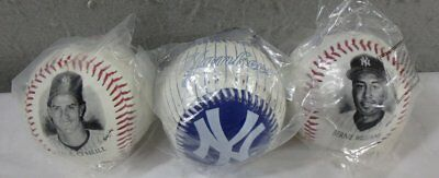 3 Mint Sealed In Package New York Yankees Baseballs Paul O'neill Bernie Williams