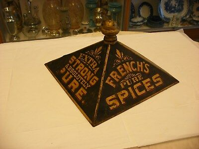 Antique Vtg General Store Advertising Sign - French's Spices Display
