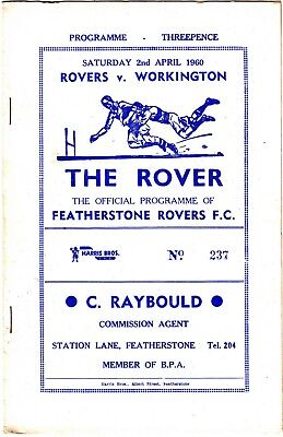 Featherstone Rovers v Workington 1959/60