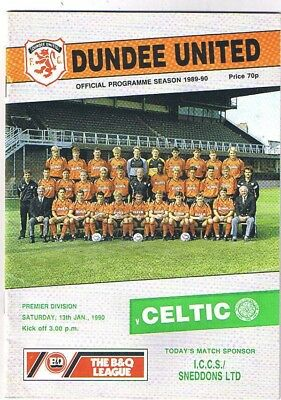 Dundee United v Celtic 1989/90 jan