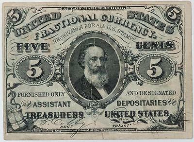 1863 5 Cents Fractional Currency Item#M106
