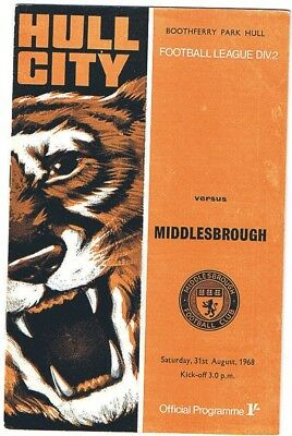 Hull City v Middlesbrough 1968/9