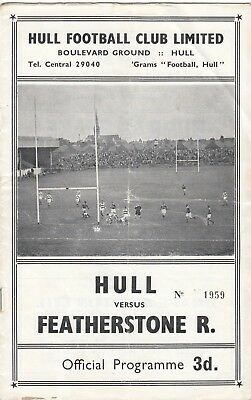 Hull FC v Featherstone Rovers 1959/60 (19 Dec)