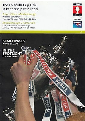 Aston Villa Youth v Middlesbrough Youth 2003/4 FAYC Final