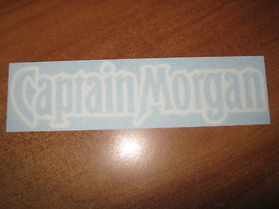 "Captain Morgan - Vinyl Sticker - In ""white"""