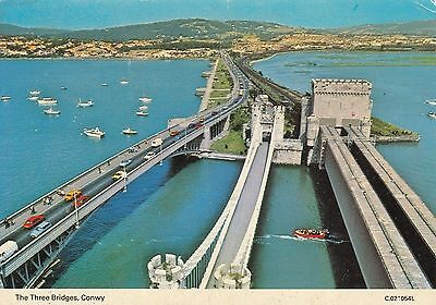 Postcard - Conwy - The Three Bridges