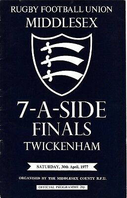 Middlesex Sevens Finals 1977 @ Twickenham