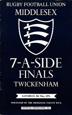 Middlesex Sevens Finals 1976 @ Twickenham