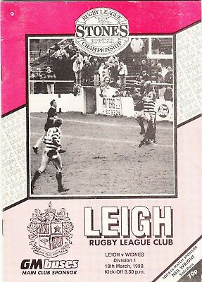 Leigh v Widnes 1989/90