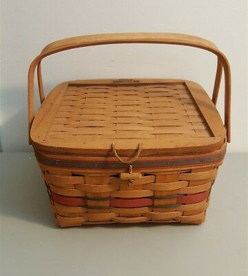 Longaberger 1991 CRISCO AMERICAN PIE BASKET With Riser Cook Book
